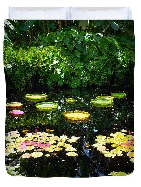 Lilly Garden Duvet Cover