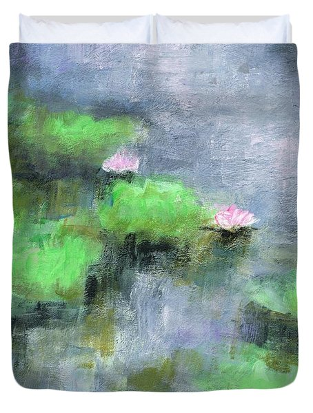 Water Lilly's  Duvet Cover by Frances Marino