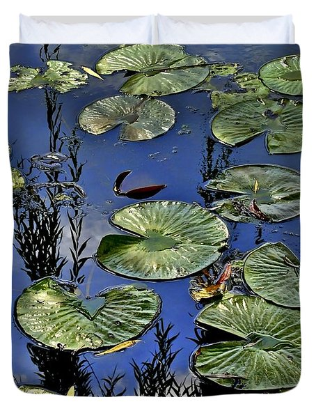 Lilly Pond Duvet Cover by Frozen in Time Fine Art Photography