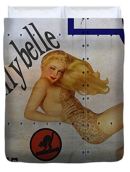 Lillybelle Nose Art Duvet Cover by Cinema Photography