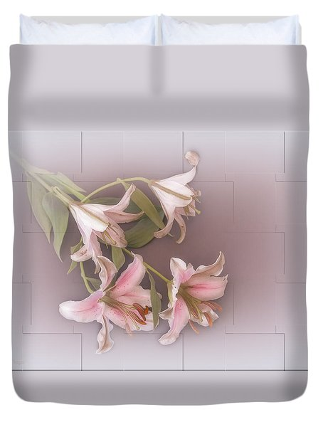 Lily Duvet Cover by Elaine Teague