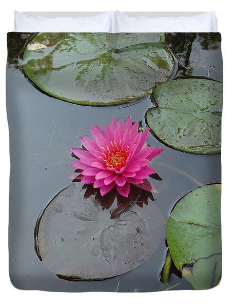 Lily Flower Duvet Cover by Michael Porchik