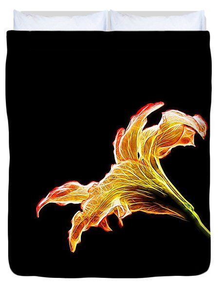 Lily Glow Duvet Cover by Judy Vincent