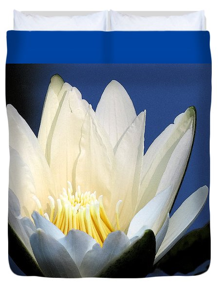 Lily In Blue Duvet Cover
