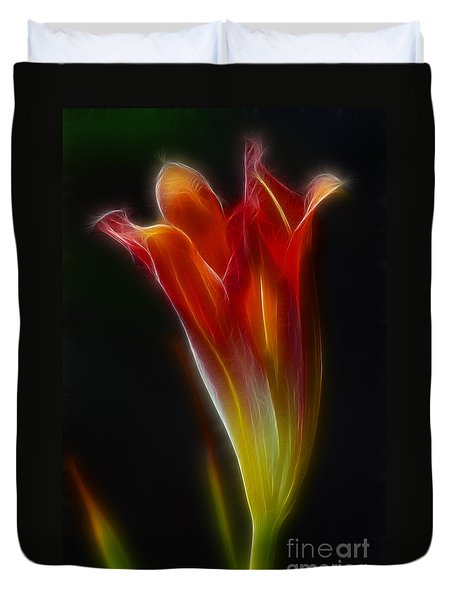 Lily Opening-5964 Duvet Cover by Gary Gingrich Galleries