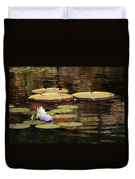 Duvet Cover featuring the photograph Lily Pad by Kathy Churchman
