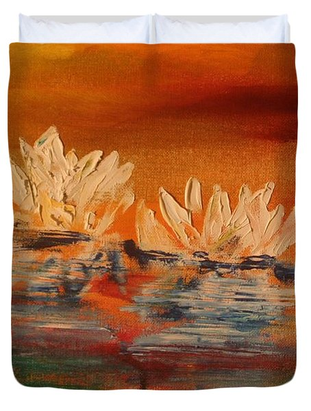 Lily Pad Duvet Cover by PainterArtist FIN