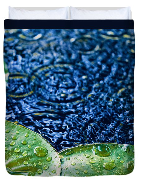 Lily Pads Duvet Cover by Debi Bishop