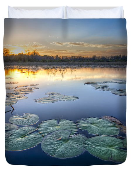 Lily Pads In The Glades Duvet Cover
