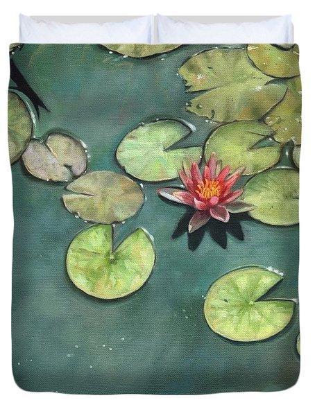 Lily Pond Duvet Cover by David Stribbling