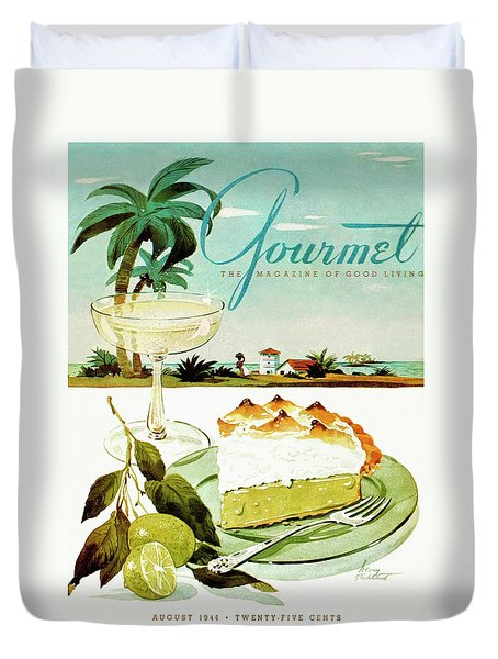 Lime Meringue Pie With Champagne Duvet Cover by Henry Stahlhut