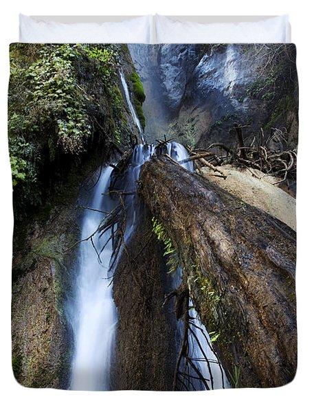 Limekiln Waterfall Duvet Cover by Jenna Szerlag