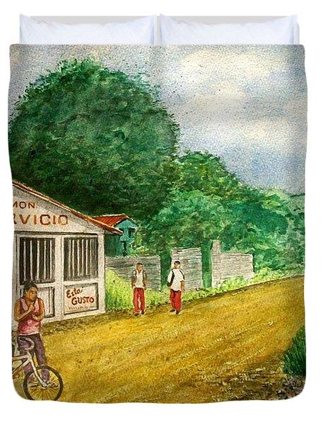 Limon Costa Rica Duvet Cover