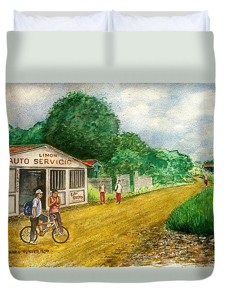 Limon Costa Rica Duvet Cover by Frank Hunter