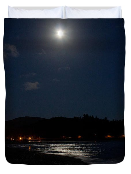 Lincoln City Moonlight Duvet Cover by John Daly