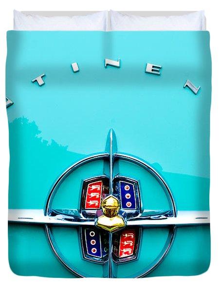 Lincoln Continental Rear Emblem Duvet Cover