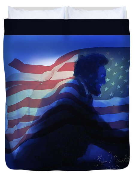 Lincoln Duvet Cover by Kevin Caudill