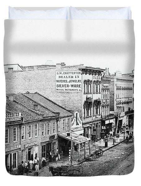 Lincoln Law Office, C1850 Duvet Cover