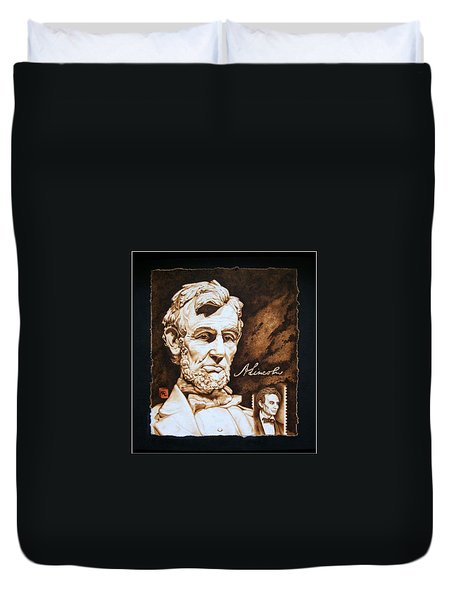 Lincoln Memorial And The Younger Duvet Cover by Cynthia Adams
