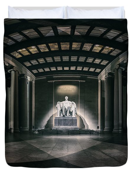 Lincoln Memorial Duvet Cover by Eduard Moldoveanu