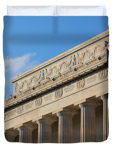 Lincoln Memorial - The Details Duvet Cover