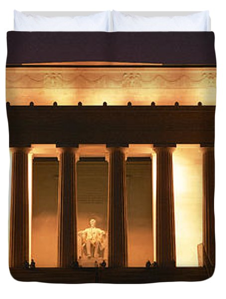 Lincoln Memorial Washington Dc Usa Duvet Cover by Panoramic Images
