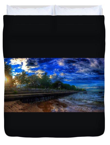 Lincoln Park Sunset Duvet Cover