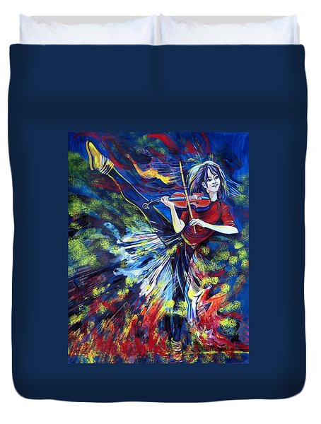 Lindsey Stirling. Dancing Violinist Duvet Cover