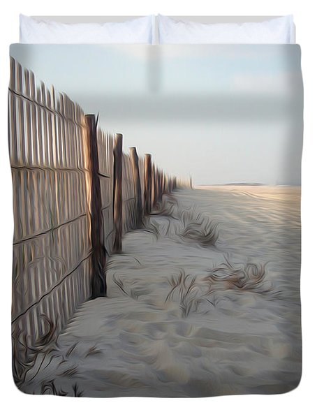 Duvet Cover featuring the digital art Line In The Sand by Kelvin Booker