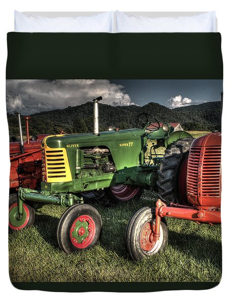 Lined Up Duvet Cover by Michael Eingle