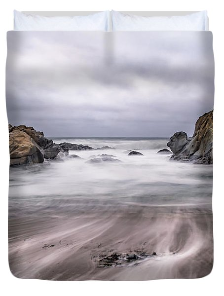 Lines In The Sand Duvet Cover by Linda Villers