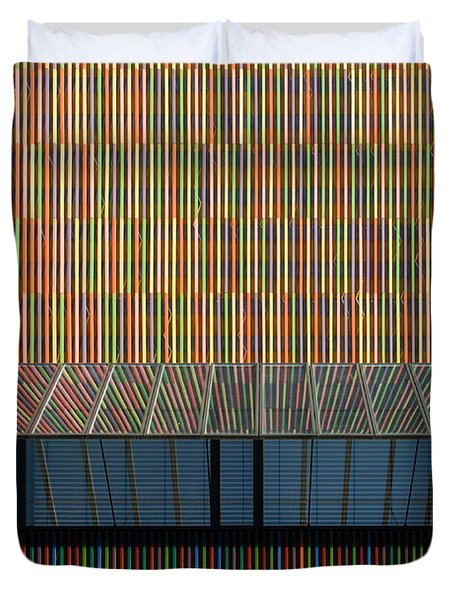 Lines - Pop Duvet Cover by Hannes Cmarits