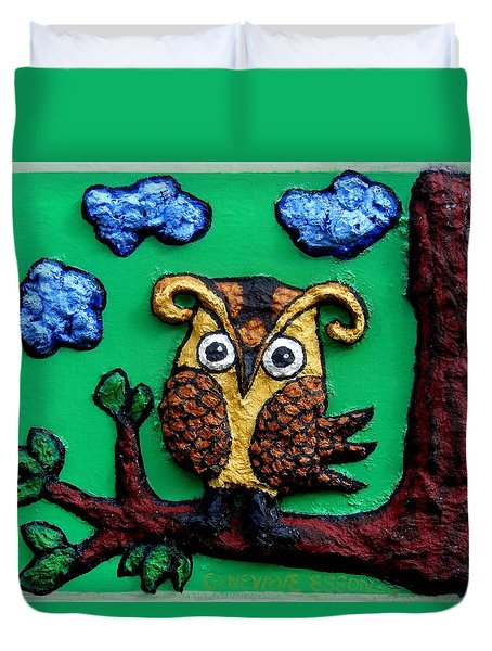 Lint Owl Detail Duvet Cover by Genevieve Esson