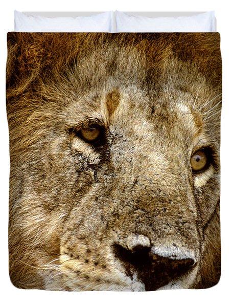 Lion 01 Duvet Cover by Wally Hampton