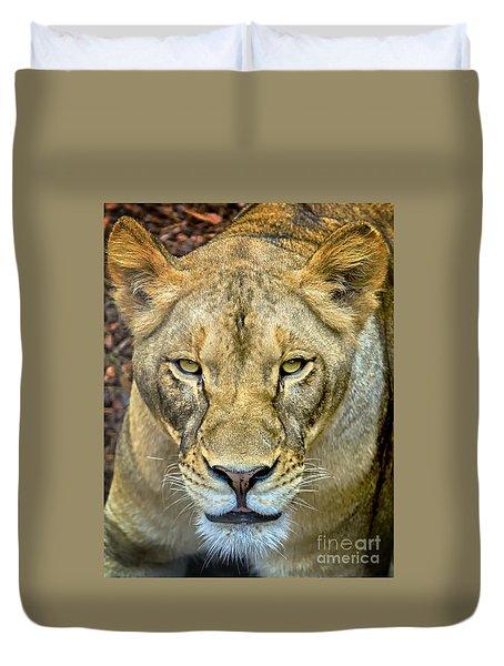 Lion Closeup Duvet Cover