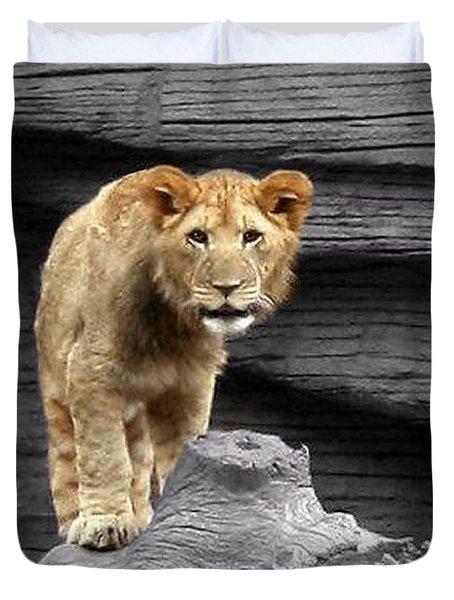 Lion Cub Duvet Cover