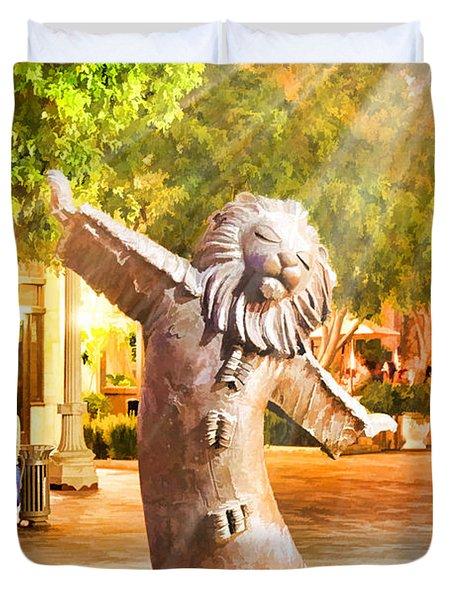 Lion Fountain Duvet Cover