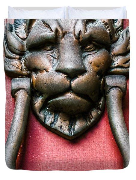 Lion Head Door Knocker Duvet Cover