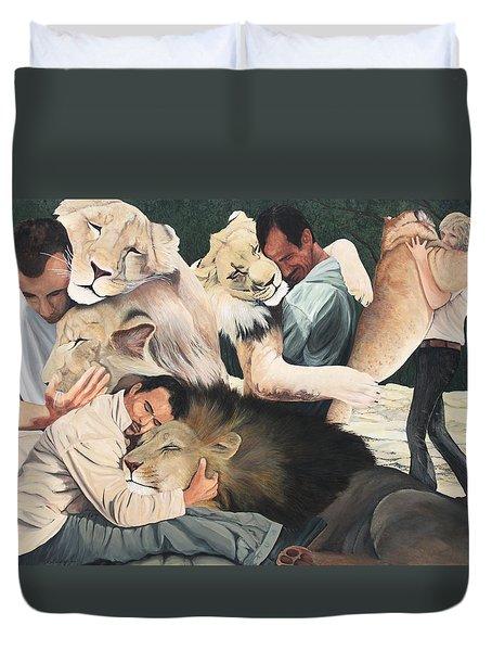 Lion Hugs Duvet Cover