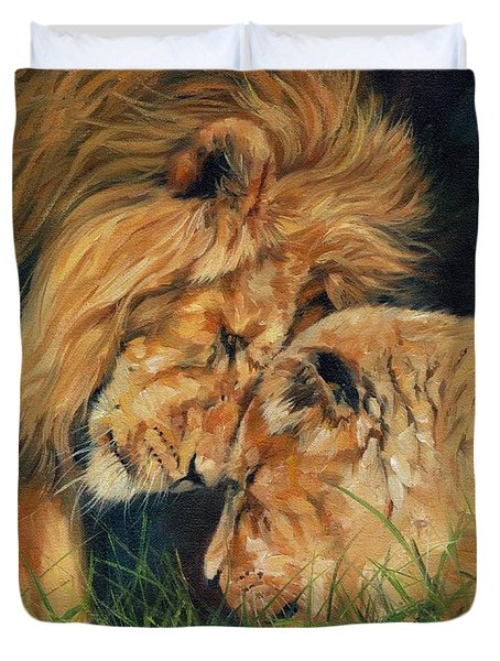 Lion  Love Duvet Cover