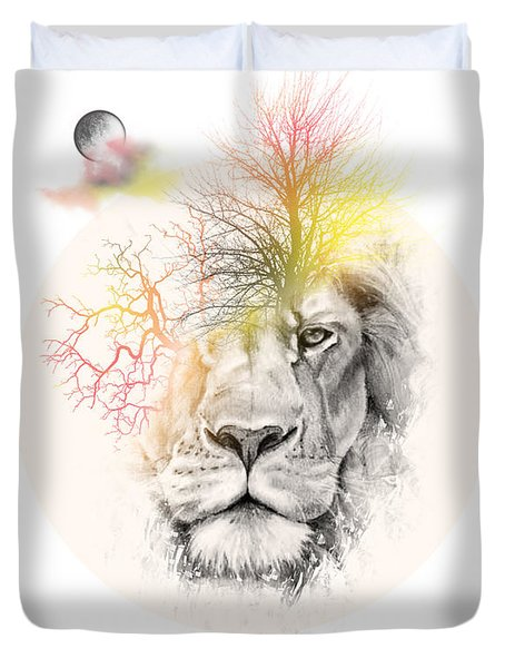 Lion Duvet Cover by Mark Ashkenazi