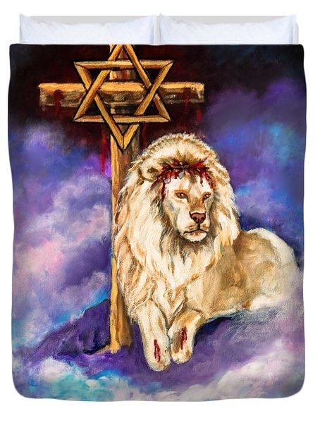 Lion Of Judah Original Painting Forsale Duvet Cover