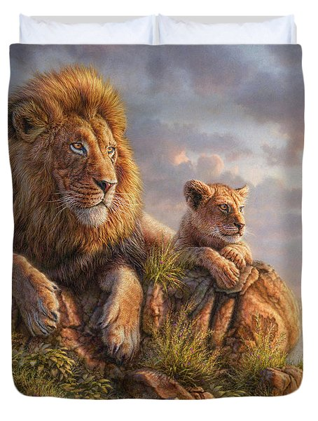 Lion Pride Duvet Cover
