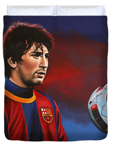 Lionel Messi 2 Duvet Cover