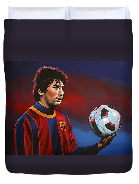 Lionel Messi 2 Duvet Cover