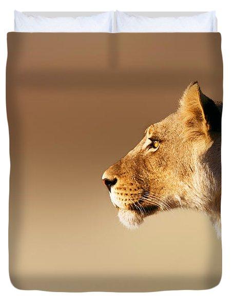 Lioness Portrait Duvet Cover