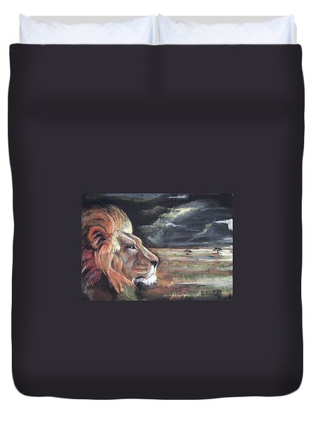 Lions Domain Duvet Cover by Peter Suhocke