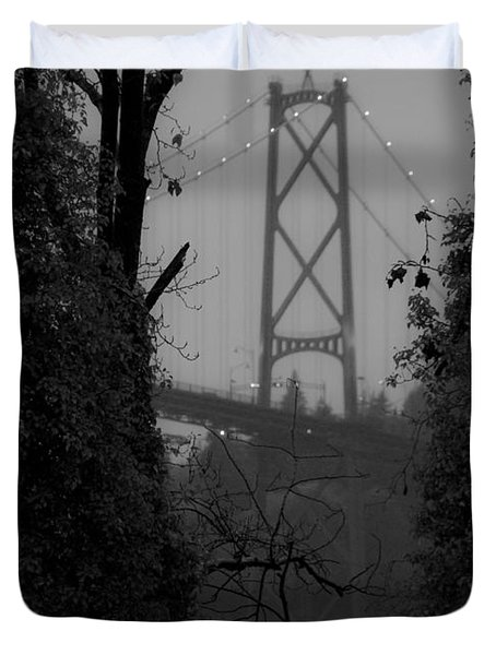 Lions Gate Bridge Duvet Cover by Nancy Harrison