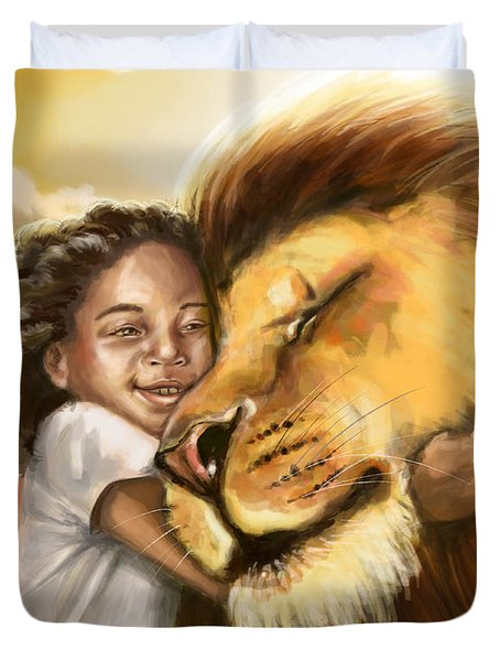 Lion's Kiss Duvet Cover