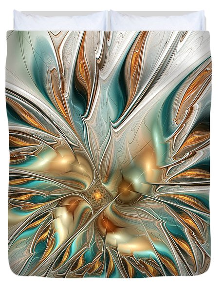 Liquid Flame Duvet Cover by Anastasiya Malakhova